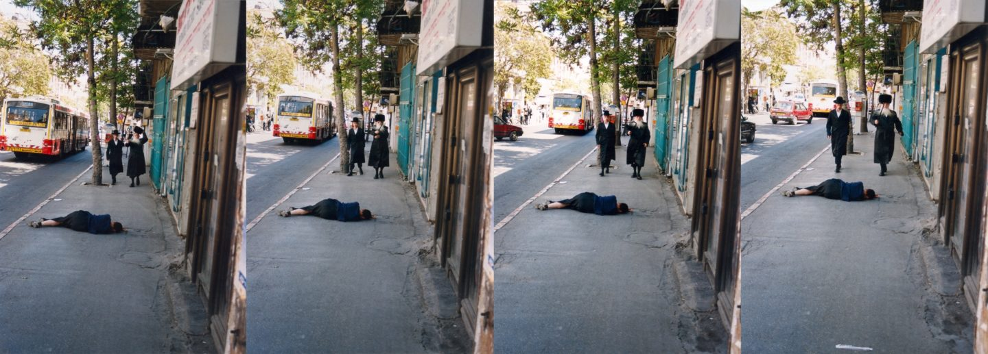 A Fallen Woman. On the street